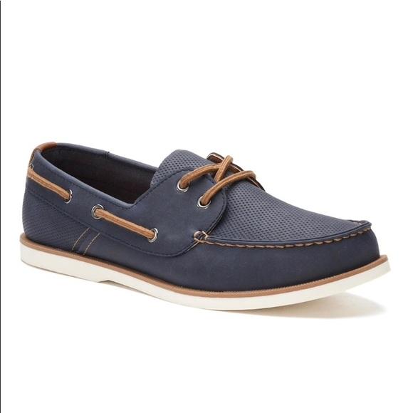Sonoma Shoes | Ortholite Navy Blue Boat